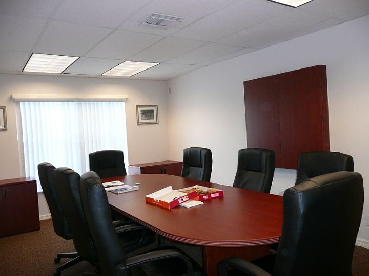Globe Office BuildingsConference Room - Oval conference table for 8